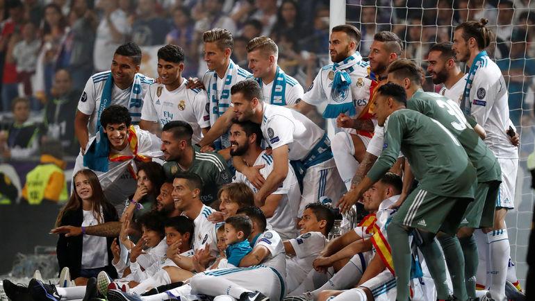 """27 мая 2018 года. Мадрид. Игроки """"Реала"""" на следующий день после финала ЛЧ празднуют победу над """"Ливерпулем"""" (3:1). Фото REUTERS"""