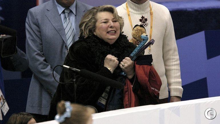 2002 год. Татьяна Тарасова празднует победу Алексея Ягудина на Олимпийских играх.