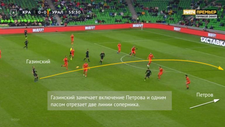 Газинский включает в атаку Петрова.