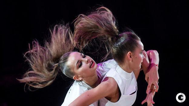 17 февраля. Москва. Этап Гран-при. Дина и Арина Аверины. Фото Дарья Исаева,
