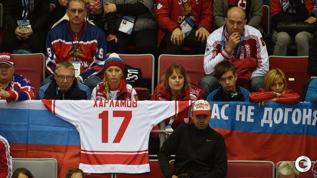 19 февраля 2014 года. Сочи. Финляндия - Россия - 3:1. Трибуны загрустили. Фото Александр Федоров,