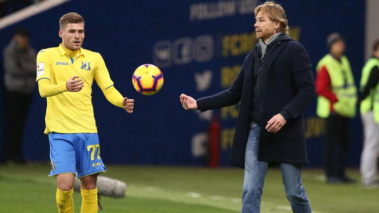 Дмитрий Скопинцев и Валерий Карпин. Фото Виталий Тимкив