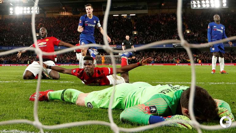 """18 февраля. Лондон. """"Челси"""" – """"Манчестер Юнайтед"""" – 0:2. Поль Погба празднует гол."""