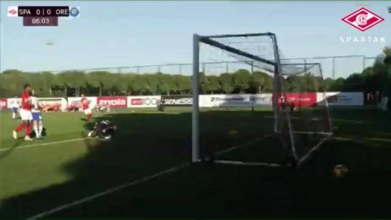 Скриншот повтора первого мяча в высочайшем качестве (из предложенных).