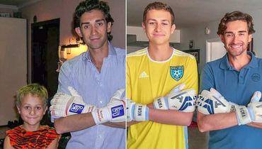 Руслан Нигматуллин с сыном Русланом в 2008-м и 2018-м.