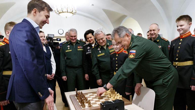 Сергей Карякин и Сергей Шойгу.
