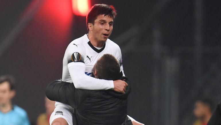 Испанский нападающий Фран Соль помог «Динамо» побороть греческий «Олимпиакос»— счет 1:0