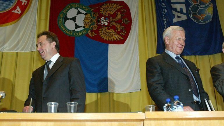 2 апреля 2005 года. Москва. Виталий Мутко и Вячеслав Колосков.
