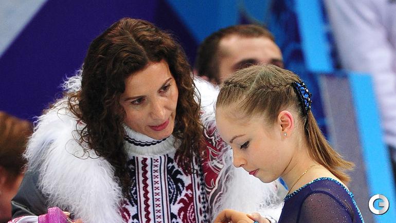 2014 год. Сочи. Этери Тутберидзе и Юлия Липницкая.
