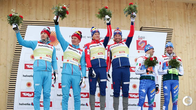 24 февраля. Зефельд. Командный спринт. Россия - серебро, Норвегия - золото, Италия - бронза.