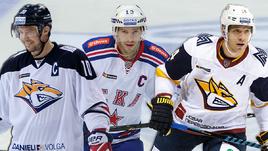 Сергей Мозякин, Павел Дацюк и Николай Кулемин.