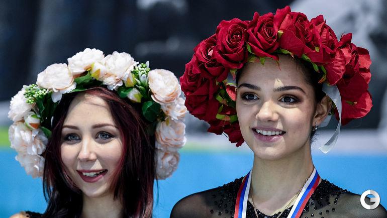 Елизавета Туктамышева и Евгения Медведева.
