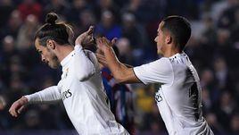 "24 февраля. Валенсия. ""Леванте"" - ""Реал"" - 1:2. 78-я минута. Гарет Бэйл и Лукас Васкес."