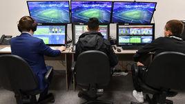 """Комната видеоарбитров на стадионе """"Краснодара""""."""
