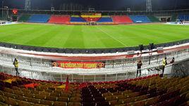 """Так выглядел стадион в Туле год назад. Теперь у """"Арсенала"""" снова проблемы с полем."""