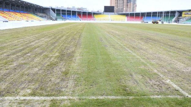 Так выглядит поле стадиона в Туле. Фото www.n71.ru