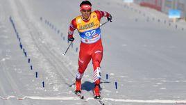 27 февраля. Зефельд. Александр Бессмертных финиширует в гонке на 15 километров классическим стилем, ставшей для него серебряным.