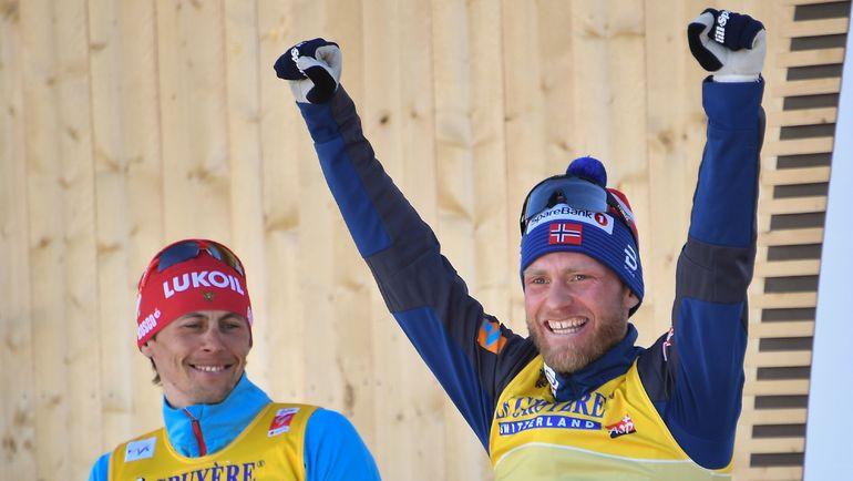 Чемпион мира Мартин Сундбю (справа) и Александр Бессмертных. Фото AFP