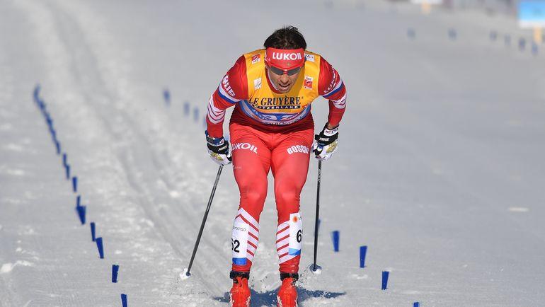 Александр Бессмертных на дистанции. Фото AFP