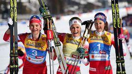 Наталья Непряева (слева), Тереза Йохауг (в центре), Ингвильд Остберг.