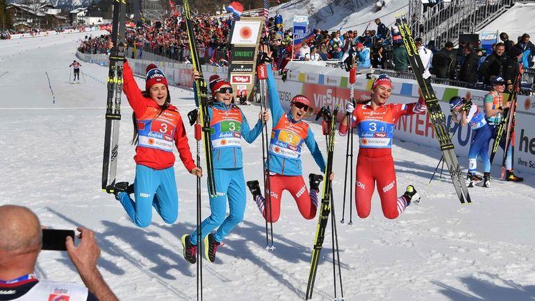 Лыжи. Чемпионат мира. Женщины. Эстафета. Юлия Белорукова. Интервью