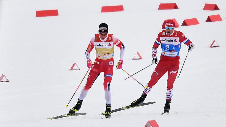 1 марта. Зефельд. Йоханнес Клебо и Сергей Устюгов. Фото AFP