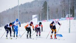 Российские лыжники.