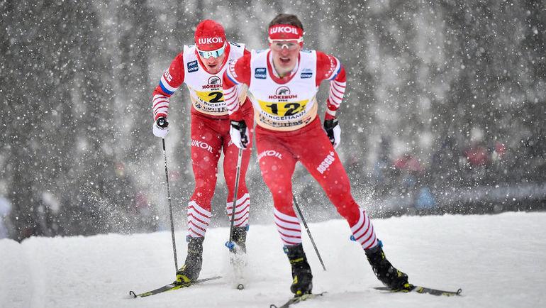 27 января. Зефельд. Денис Спицов на дистанции (справа). Фото Reuters