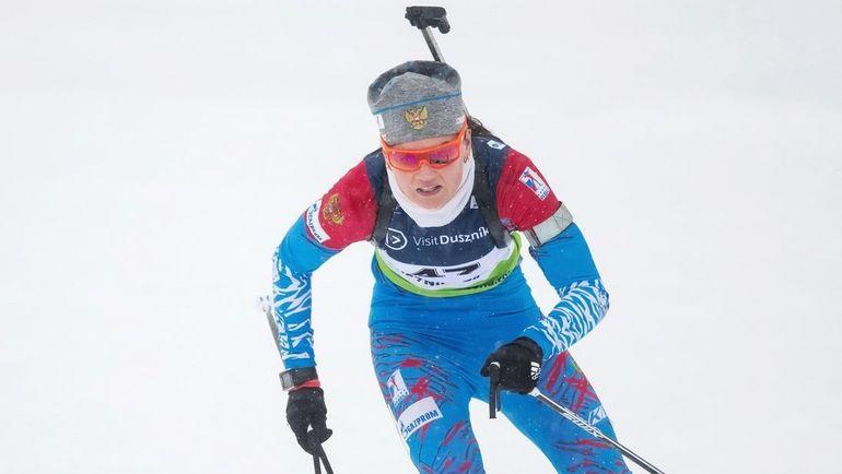 Наталья Гербулова. Фото twitter.com/IBU_CUP