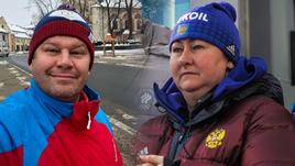 Дмитрий Губерниев и Елена Вяльбе.