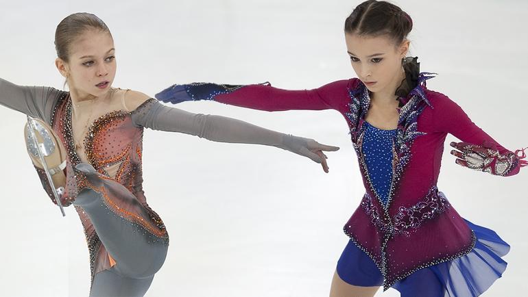 Александра Трусова и Анна Щербакова. Фото Ксения Нуртдинова
