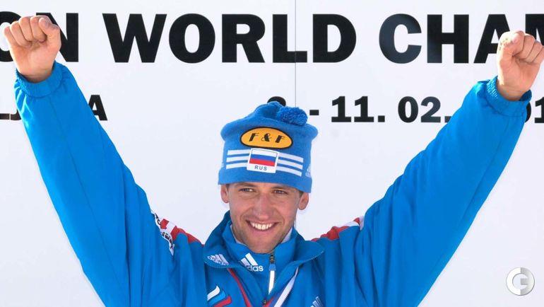 2001 год. Поклюка. Павел Ростовцев выиграл золото в спринте и гонке преследования.