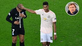 "6 марта. Париж. ""ПСЖ"" - ""Манчестер Юнайтед"" - 1:3. Кильян Мбаппе и Маркус Рэшфорд."