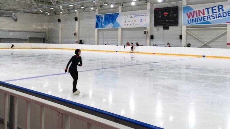 """Захра Лари на тренировочном катке Универсиады. Фото Егор Бычков, """"СЭ"""""""