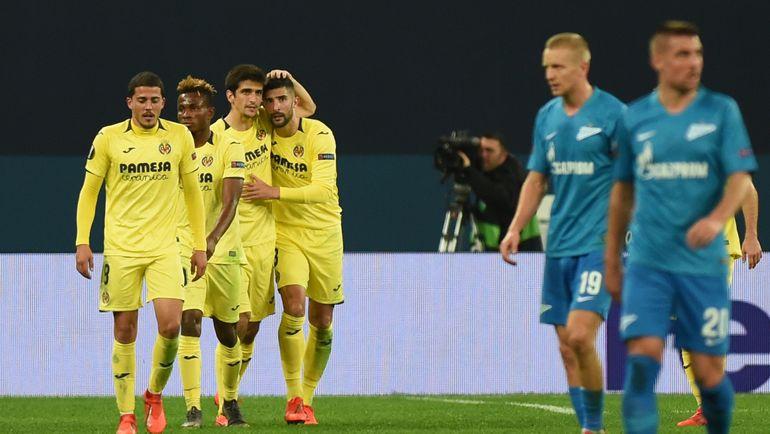 """7 марта. Санкт-Петербург. """"Зенит"""" - """"Вильярреал"""" - 1:3. Сине-бело-голубые проиграли на своем поле. Фото AFP"""