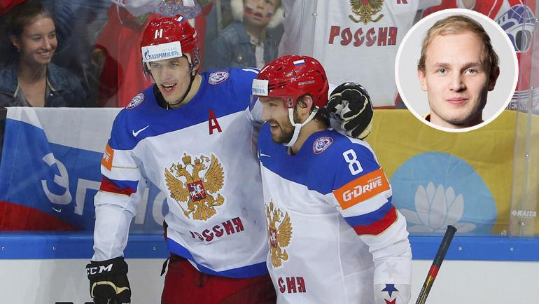 Евгений Малкин, Александр Овечкин и Кристиан Весалайнен.