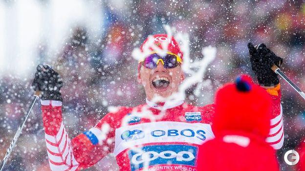 9 марта. Осло. Александр Большунов одерживает долгожданную победу. Фото REUTERS