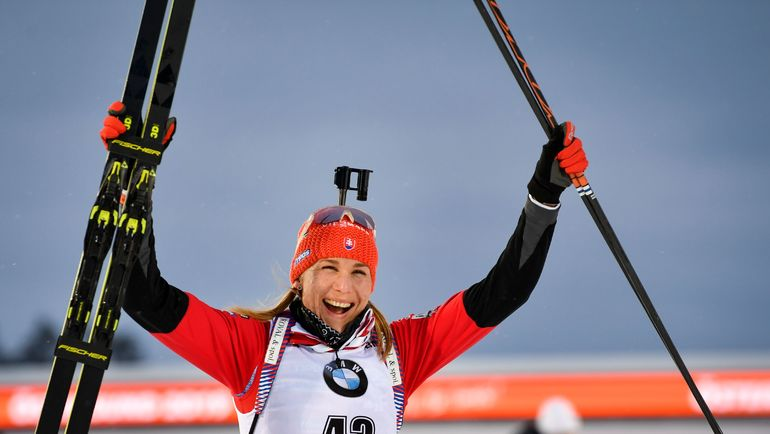 Чемпионка мира-2019 в спринте Анастасия Кузьмина. Фото AFP