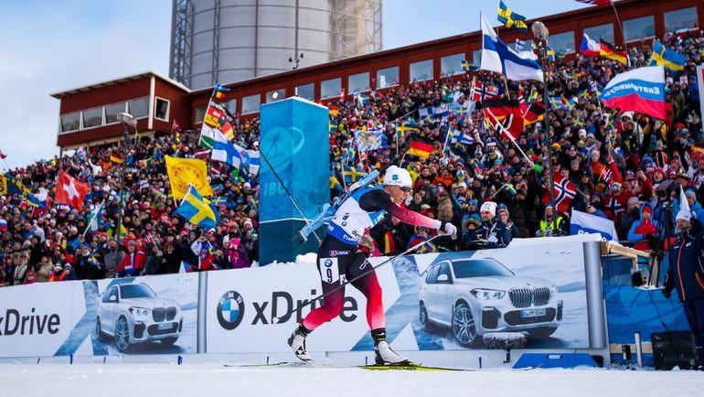 10 марта. Эстерсунд. Тириль Экхофф на финише гонки преследования. Фото AFP