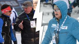 Тренер Евгения Гараничева Максим Кугаевский (на фото слева) выступил против главного тренера сборной Анатолия Хованцева.