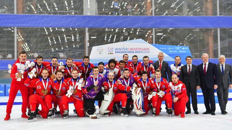Мужская сборная России - победитель Универсиады-2019. Фото Татьяна Глюк