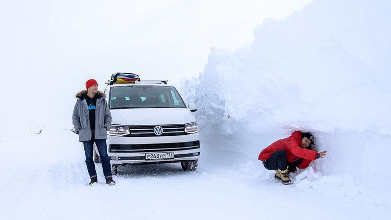 Volkswagen Multivan обеспечит комфортное вождение в горах.