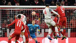 13 марта. Мюнхен. 69-я минута. Защитник гостей Виргил ван Дейк (№ 4) забивает победный гол.
