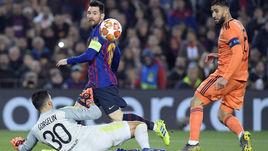 """13 марта. Барселона. """"Барселона"""" - """"Лион"""" - 5:1. Лионель Месси: два гола, две передачи и выход в четвертьфинал."""