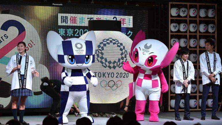 Маскоты Олимпийских игр в Токио. Фото AFP
