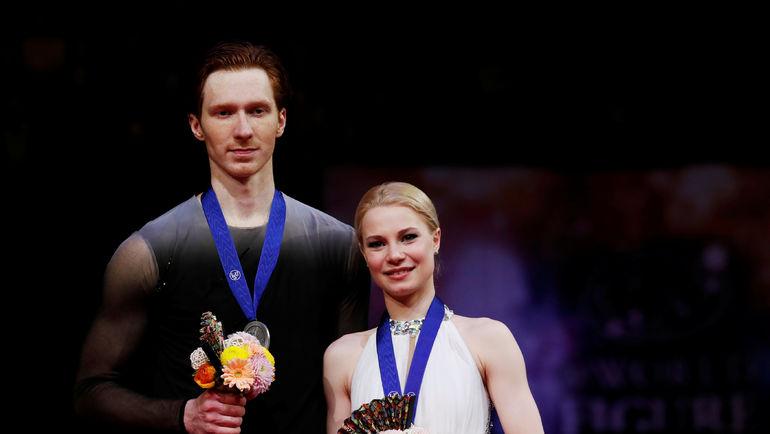 Евгения Тарасова и Владимир Морозов - серебряные призеры чемпионата мира-2019. Фото Issei Kato, REUTERS