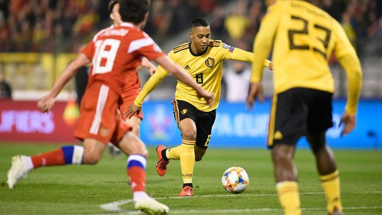 21 марта. Брюссель. Бельгия - Россия - 3:1. 14-я минута. Гол Юри Тилеманса. Фото AFP