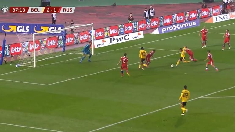 Бельгия - Россия: второй гол Эдена Азара.
