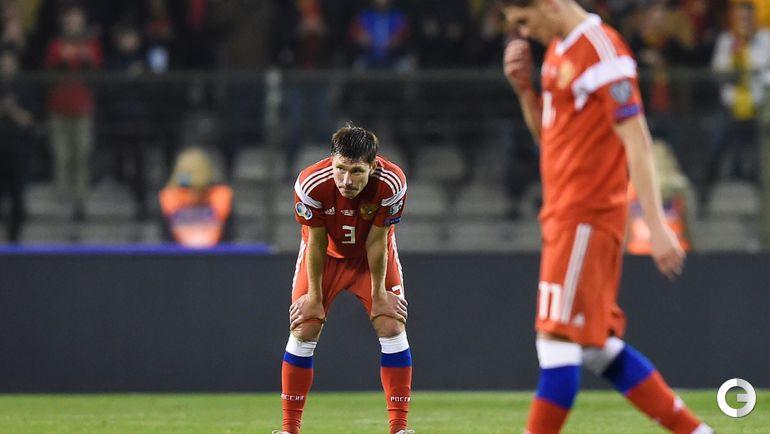 21 марта. Брюссель. Бельгия - Россия - 3:1. Кирилл Набабкин после поражения.