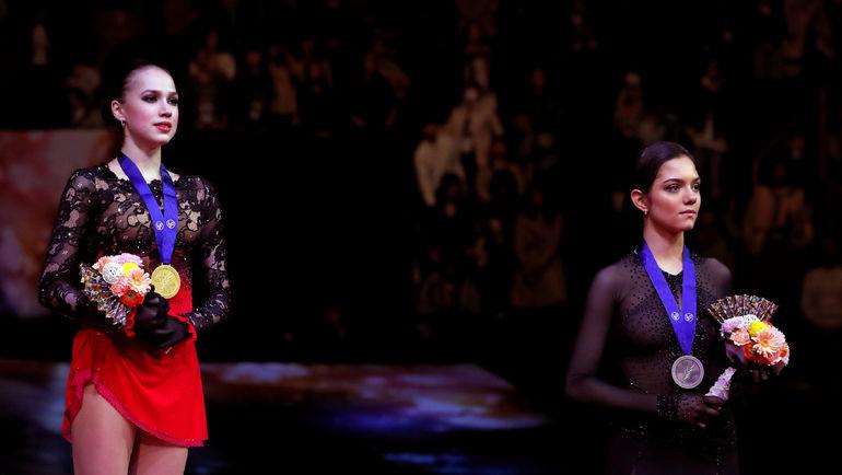22 марта. Сайтама. Алина Загитова и Евгения Медведева. Фото REUTERS